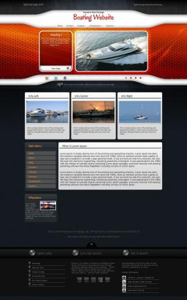 Honeycomb Boating Website Template