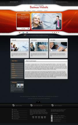 Honeycomb Business Website Template