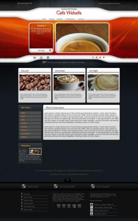 Honeycomb Cafe Website Template