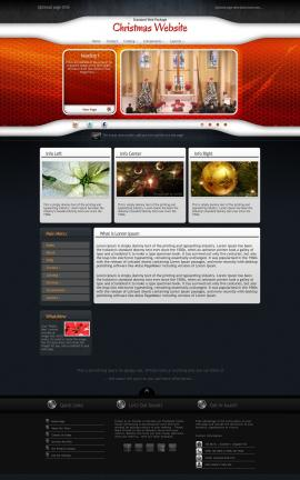 Honeycomb Christmas Website Template