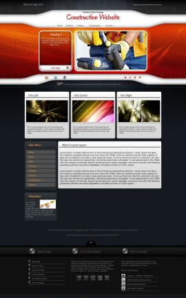 Honeycomb Construction Website Template