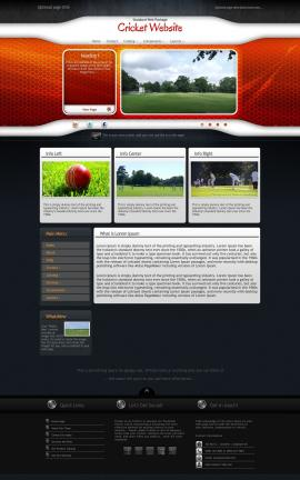 Honeycomb Cricket Website Template