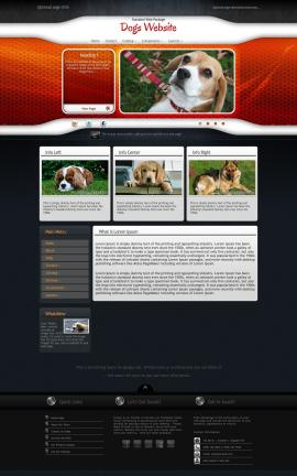 Honeycomb Dogs Website Template