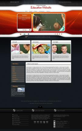 Honeycomb Education Website Template