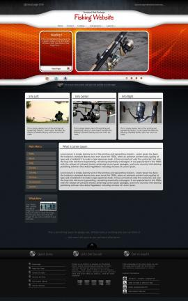 Honeycomb Fishing Website Template