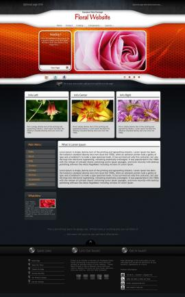 Honeycomb Floral Website Template