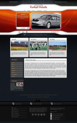 Honeycomb Football Website Template