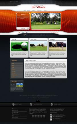 Honeycomb Golf Website Template