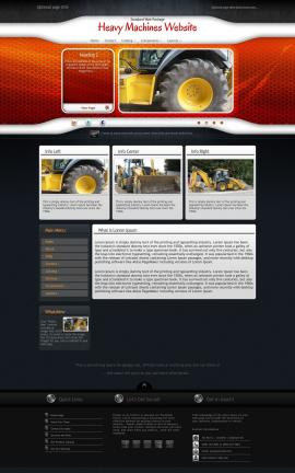 Honeycomb Heavy-machines Website Template
