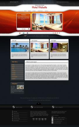 Honeycomb Hotel Website Template