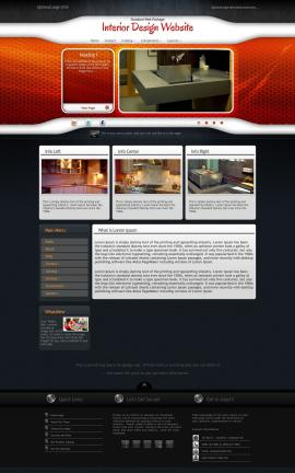 Honeycomb Interior-design Website Template
