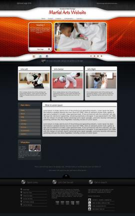Honeycomb Martial-arts Website Template