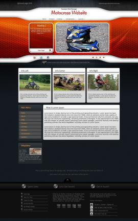 Honeycomb Motocross Website Template