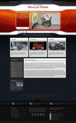 Honeycomb Motorcycle Website Template