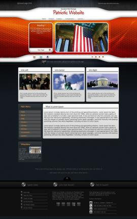 Honeycomb Patriotic Website Template