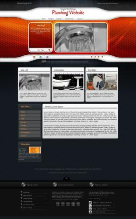Honeycomb Plumbing Website Template