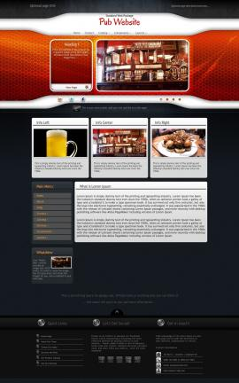 Honeycomb Pub Website Template