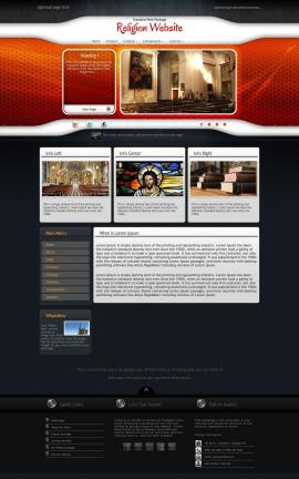 Honeycomb Religion Website Template
