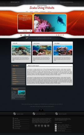 Honeycomb Scuba-diving Website Template