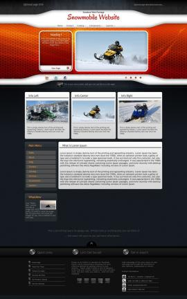 Honeycomb Snowmobile Website Template