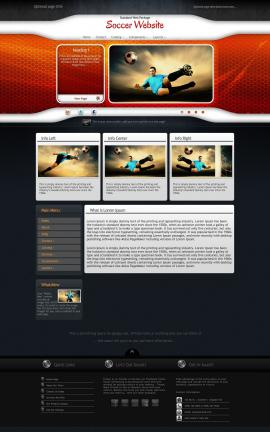 Honeycomb Soccer Website Template