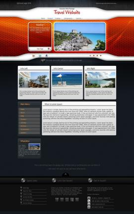 Honeycomb Travel Website Template