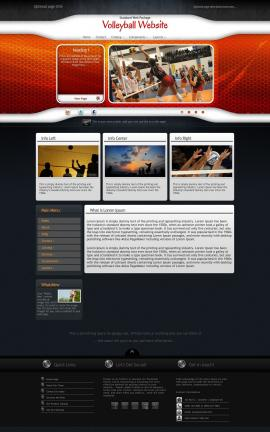 Honeycomb Volleyball Website Template