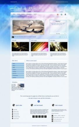 Eternal Aviation Dreamweaver Template