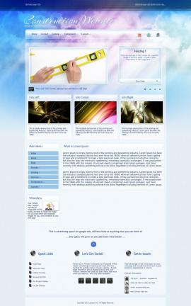 Eternal Construction Website Template