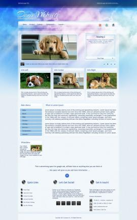 Eternal Dogs Website Template