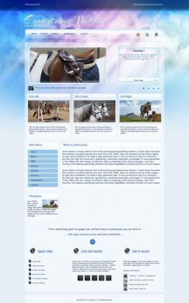 Eternal Equestrian Website Template