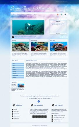 Eternal Scuba-diving Website Template