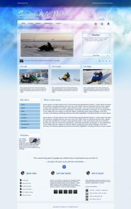 Eternal Snowmobile Website Template