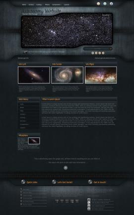 Precision Astronomy Website Template