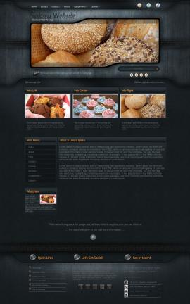 Precision Bakery Website Template