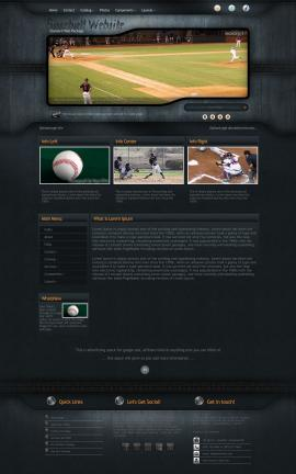 Precision Baseball Website Template