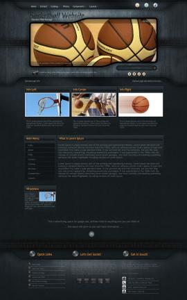 Precision Basketball Website Template