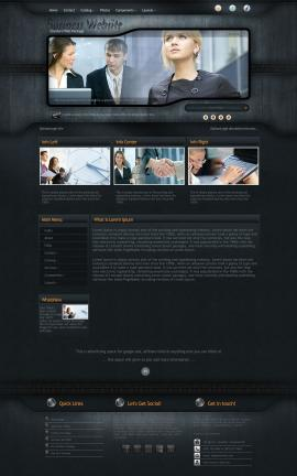 Precision Business Website Template