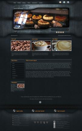 Precision Cafe Website Template
