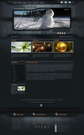 Precision Christmas Website Template