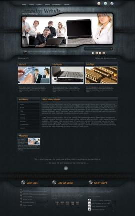 Precision Computers Website Template