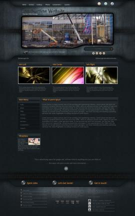Precision Construction Website Template