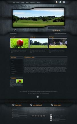 Precision Cricket Website Template