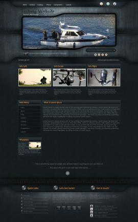 Precision Fishing Website Template