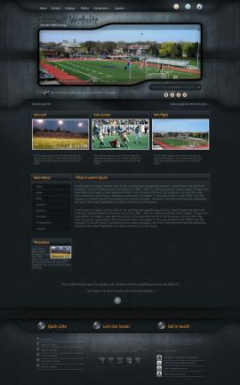 Precision Football Website Template