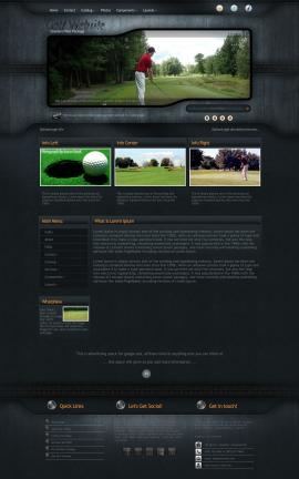 Precision Golf Website Template