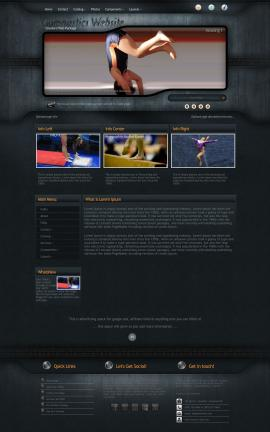 Precision Gymnastics Website Template