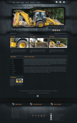 Precision Heavy-machines Website Template