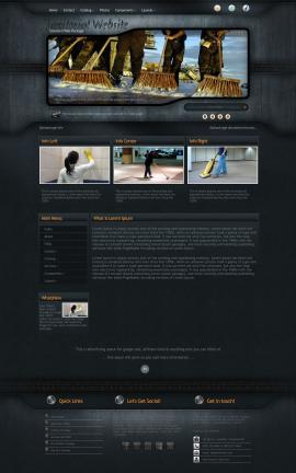 Precision Janitorial Website Template
