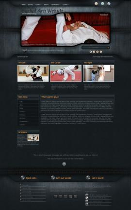 Precision Martial-arts Website Template